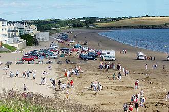 Duncannon -  A sandcastle building contest taking place on the sandy Duncannon beach.