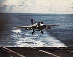 EA-6A Intruder of VMAQ-2 land on USS Midway (CV-41) in 1977.jpg