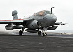 EA-6B Prowler launched from USS Abraham Lincoln (CVN 72).jpg