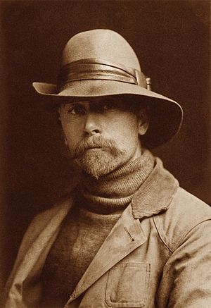 Portrait photography - Edward S. Curtis, self-portrait.