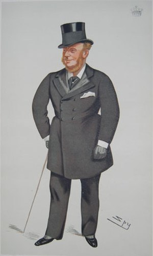 "Valentine Browne, 4th Earl of Kenmare - ""The Lord Chamberlain"" Kenmare as caricatured by Spy (Leslie Ward) in Vanity Fair, February 1881"
