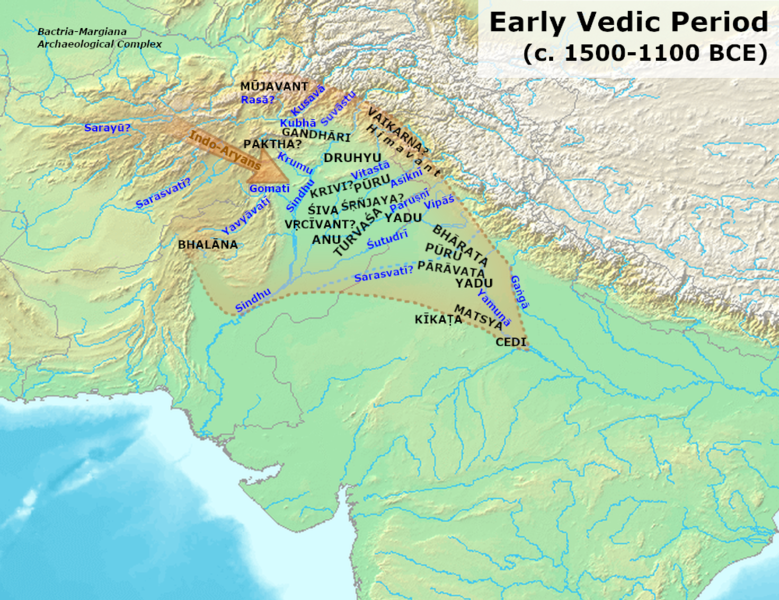 Archivo:Early Vedic Culture (1700-1100 BCE).png