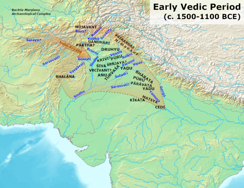 Early Vedic Period Early Vedic Culture (1700-1100 BCE).png