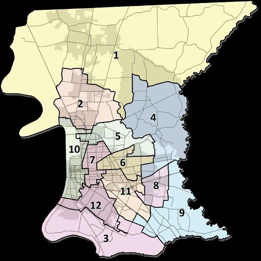 East Baton Rouge Parish District Map