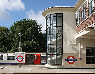 East Finchley area in north London, in the London Borough of Barnet
