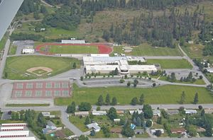 East Valley High School (Spokane, Washington) - EVHS viewed from the sky