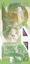 East Caribbean States $5 note (rear)