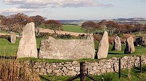 Recumbent stone circle - Easter Aquhorthies recumbent stone circle