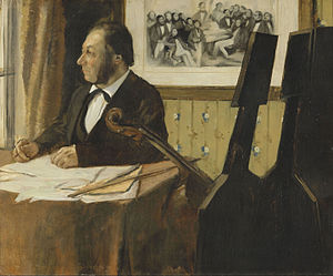 Louis-Marie Pilet - Image: Edgar Degas The Cellist Pilet Google Art Project