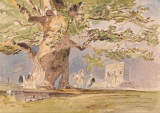 Tepelenë - Tepelenë in April 1857 by Edward Lear.