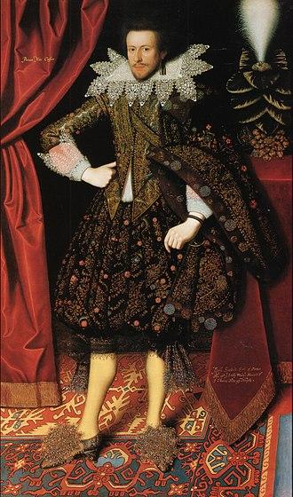 Edward Sackville, 4th Earl of Dorset - Edward Sackvile, later 4th Earl of Dorset, c. 1614, by William Larkin.