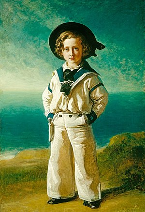 Sailor suit - Prince Albert Edward (the future Edward VII of the United Kingdom) in a sailor suit, by Franz Xaver Winterhalter, 1846