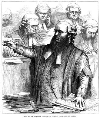 Portslade - Edward Kenealy at the Tichborne trial