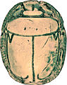 Egyptian - Scarab with the Cartouche of Thutmosis III - Walters 4232 - Back.jpg