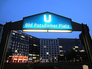 Berlin Potsdamer Platz station - U-Bahn entrance