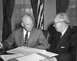 Lewis Strauss - Eisenhower and Strauss discuss Operation Castle, 1954.