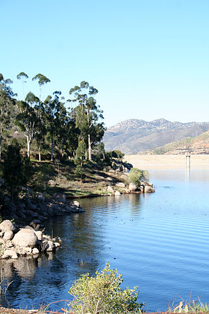 El Capitan Reservoir - The reservoir and dam
