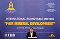 Elbegdorj speaking at Fair Mineral Development roundtable.jpg