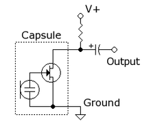 Sample Electret Microphone circuit