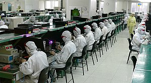 Electronics industry - Workers in an electronics factory in Shenzhen, China