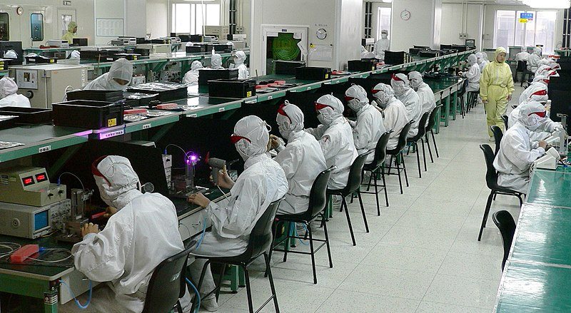 Electronics factory in Shenzhen, China
