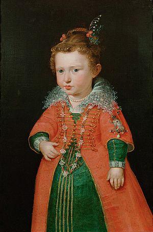 Eleonora Gonzaga (1598–1655) - Eleonora as a child, ca. 1600/01, probably by Peter Paul Rubens. Kunsthistorisches Museum, Vienna.