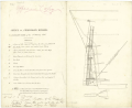 Elevation of a temporary rudder for warships (circa 1840) RMG J0555.png