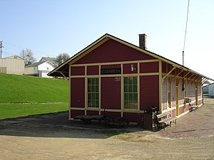 National Register of Historic Places listings in Jo Daviess County, Illinois - Image: Elizabeth Il Chicago Great Western Depot 1