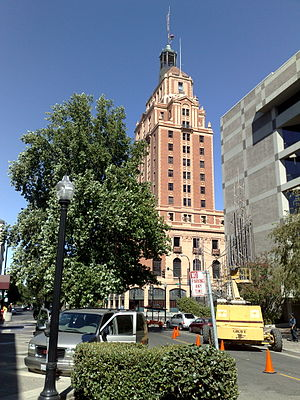 Elks Tower - The Tower from 11th Street in 2007