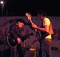 Elliott Murphy e Antonio Righetti - Festa de l'Unità, Borsea (RO) - 5 luglio 2005.jpg