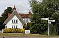 Elsenham Debden fingerpost and house Henham Essex England.jpg