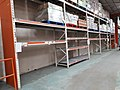 Empty toilet roll shelves in Booker cash & carry, Moray Road, during the coronavirus pandemic (geograph 6417570).jpg
