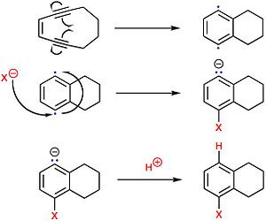 Hexosaminidase - Image: Enediyne addition reaction mechanism