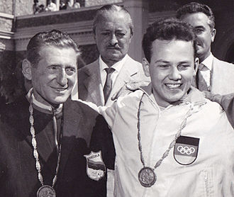 Enrico Forcella - Image: Enrico Forcella and Peter Kohnke 1960