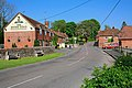 Entering Meonstoke from the A32, showing Bucks Head pub - geograph.org.uk - 423778.jpg