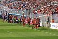 Entrée remplaçants Stade toulousain Racing 2011.jpg