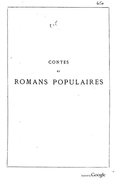 File:Erckmann-Chatrian - Contes et romans populaires, 1867.djvu
