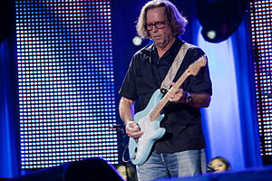 English: Living legend Eric Clapton in concert...