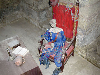 Immurement - Recreation of a sixteenth-century knight, who was believed to be immured in a wall of Kuressaare Castle, Estonia.