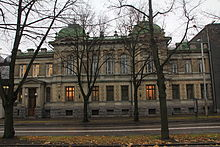 Estonia puiestee 13 endine Vene Riigipanga Reveli kontor 20101103.JPG