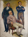 Estudo de figuras humanas para a tela Cortes Constituintes de 1821 (Roque Castelo Branco, José Ferreira Borges e Conde de Sampaio) - Veloso Salgado, 1920.png