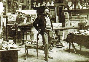 Eugène Laermans - Eugène Laermans in his studio