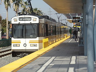 Los Angeles Metro Rail rolling stock - Image: Expo & Crenshaw Expo Line Station 2