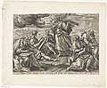Ezra drinkt de beker van kennis en wijsheid Visioenen van Ezra (serietitel) Thesaurus sacrarum historiarum veteris testamenti (..) (serietitel), RP-P-1904-3493.jpg