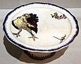 Félix bracquemond per lebeuf et milliet, compostiera con tacchino, fiori e libellula, 1866-67.jpg