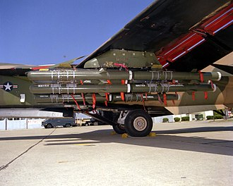 General Dynamics F-111 Aardvark - F-111 external payload of Matra Durandal concrete penetration bombs