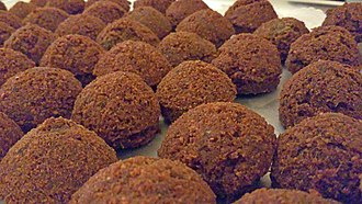 Falafel - Falafel balls with a fried, crispy exterior
