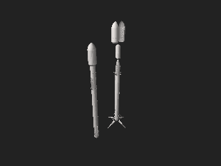Interactive 3D model of the Falcon 9