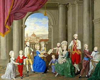 William Berczy - William Berczy, The family of Peter Leopold of Tuscany, 1781-1782, Galleria d'Arte moderna, Florence