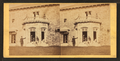 Family posing in front and in the balcony of stone house, from Robert N. Dennis collection of stereoscopic views 4.png